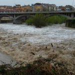El riu Ter al seu pas per Roda, aquest matí