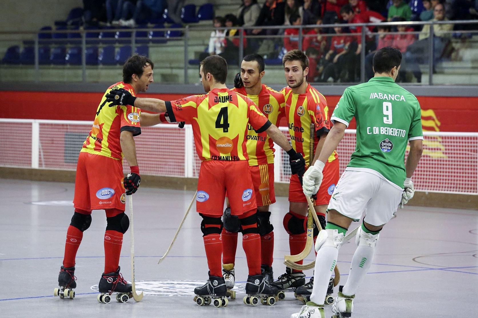 Els jugadors del Manlleu van guanyar a la pista del Liceo