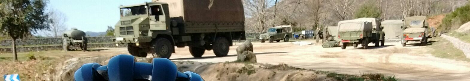 L'exèrcit a l'aparcament de les Farreres