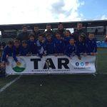 L'equip aleví de l'Espanyol celebra el triomf