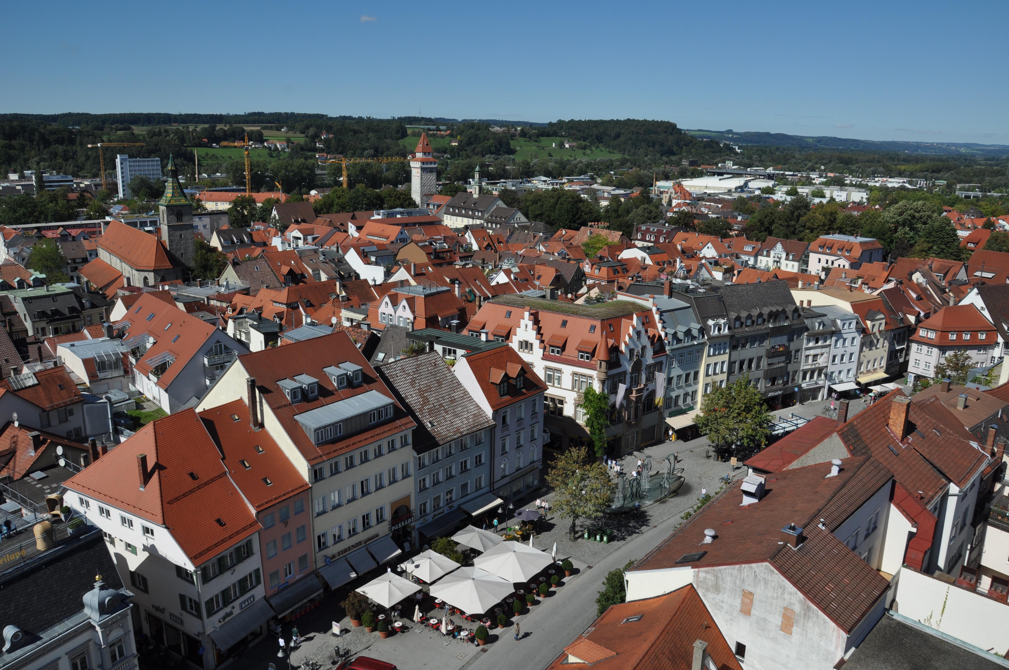 Una de les places principals de la població de Ravensburg