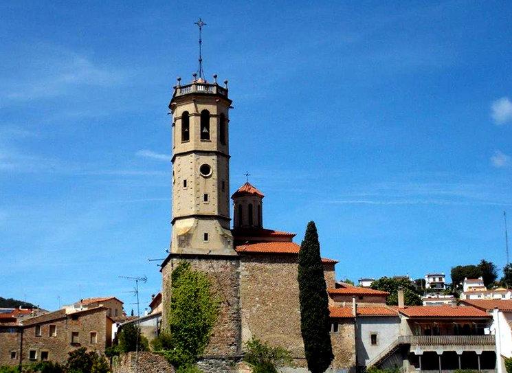 La torre del campanar de Sant Feliu de Codines