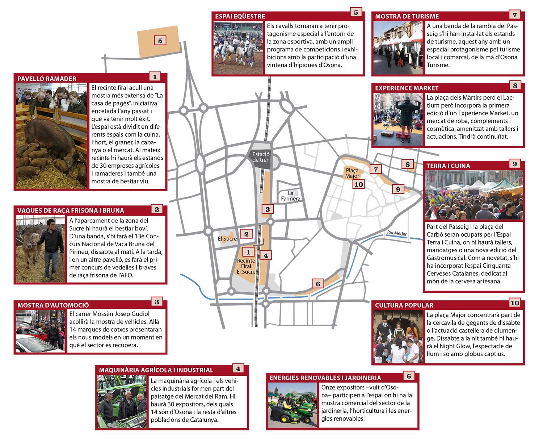 Mapa del Mercat del Ram 2017