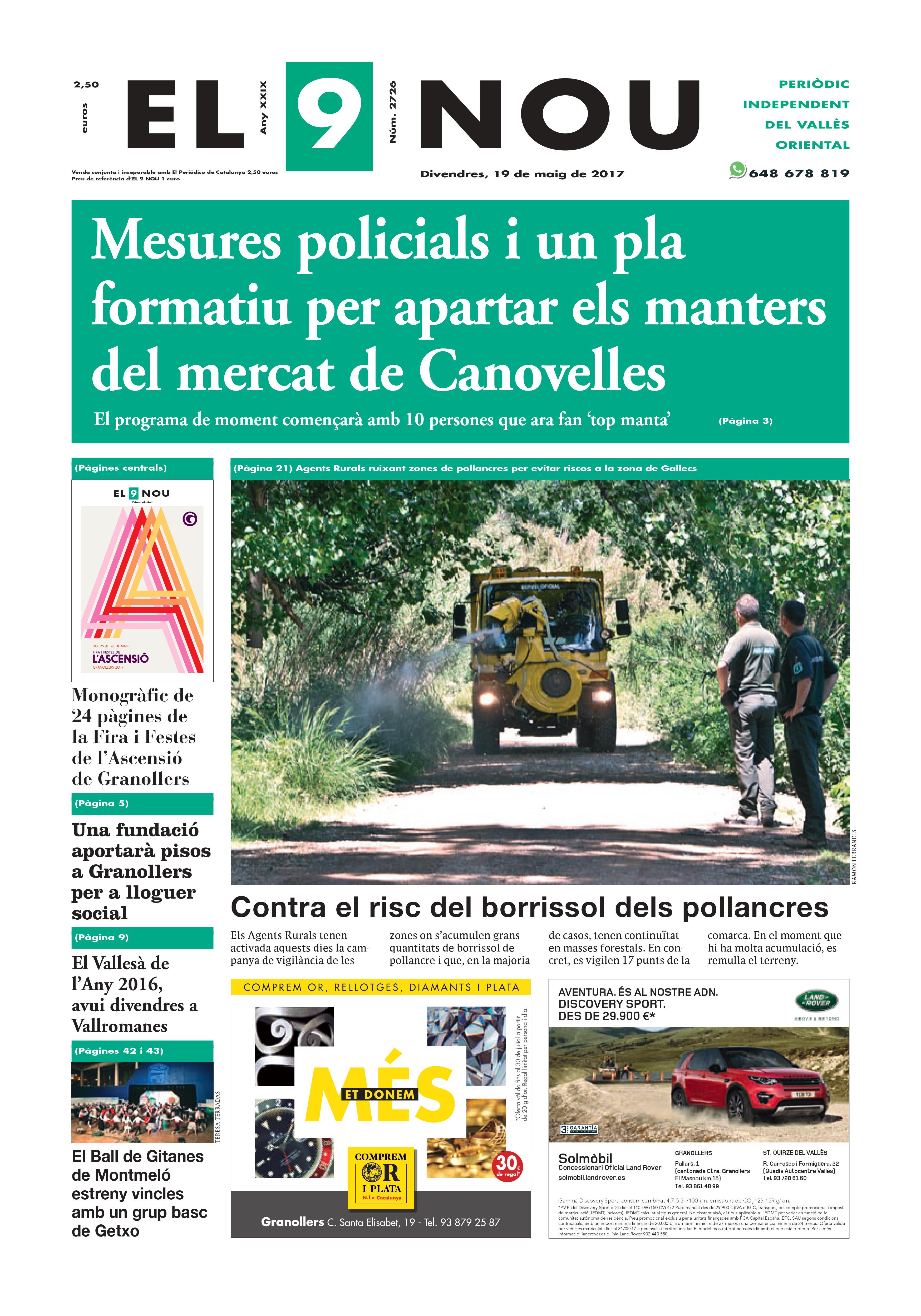Portada Vallès Oriental 19/5/2017