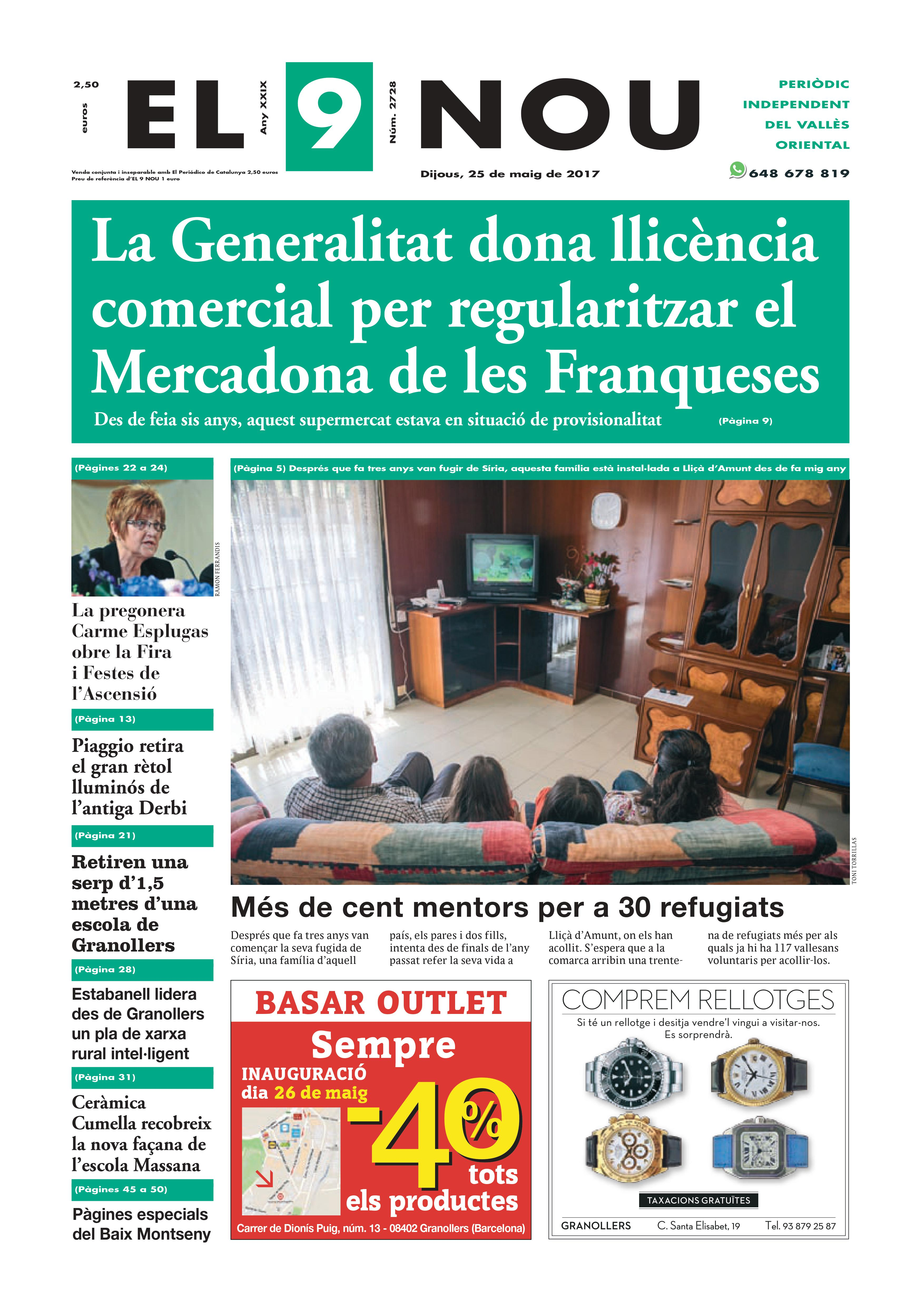 Portada Vallès Oriental 25/5/2017