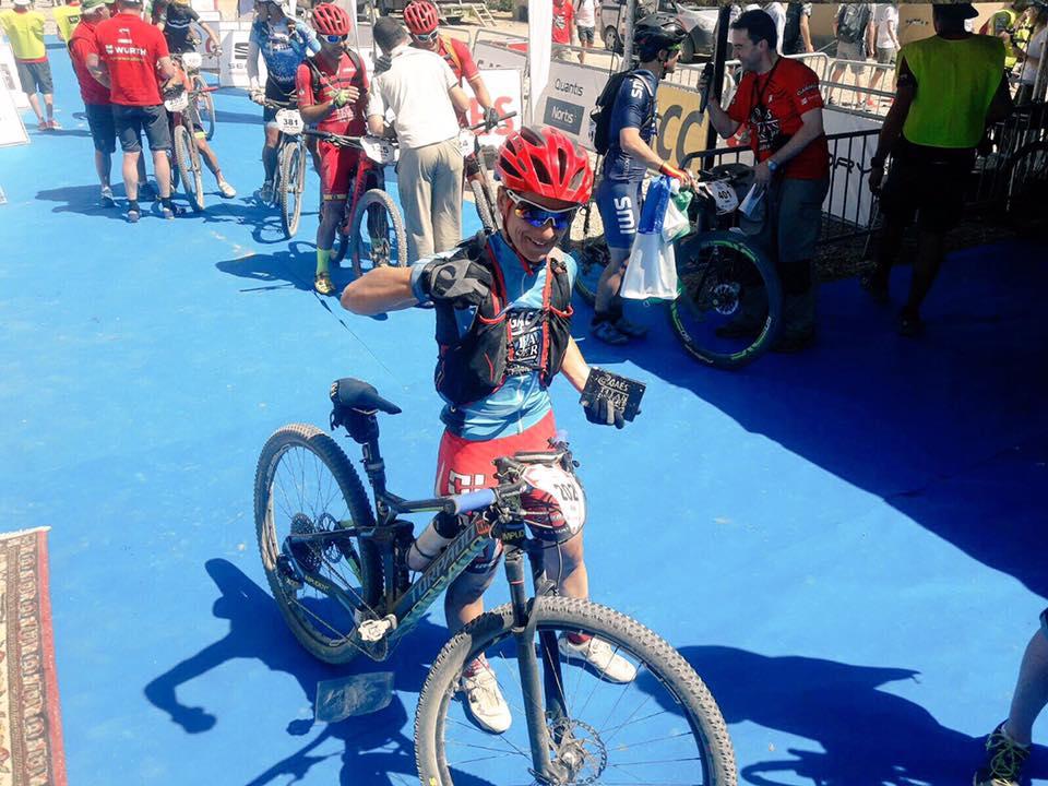 Anna Ramírez a la l'arribada de la darrera etapa