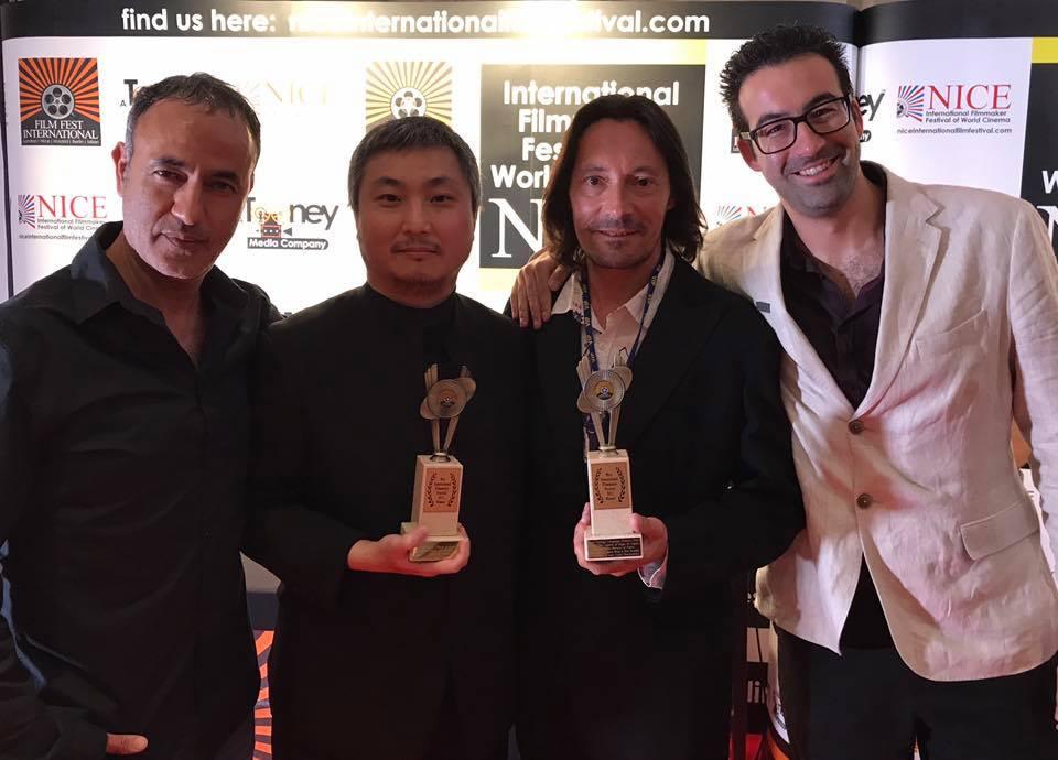 Joan Frank Charansonnet, segon per la dreta, amb el premi