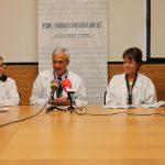 Les directores assistencial i d'infermeria, Xènia Acebes i Mireia Vicente, han presentat el pla amb el director general de la Fundació, Jaume Duran