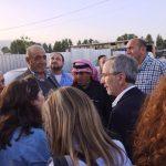 L'alcalde Mayoral en una de les visites a camps de refugiats al Líban