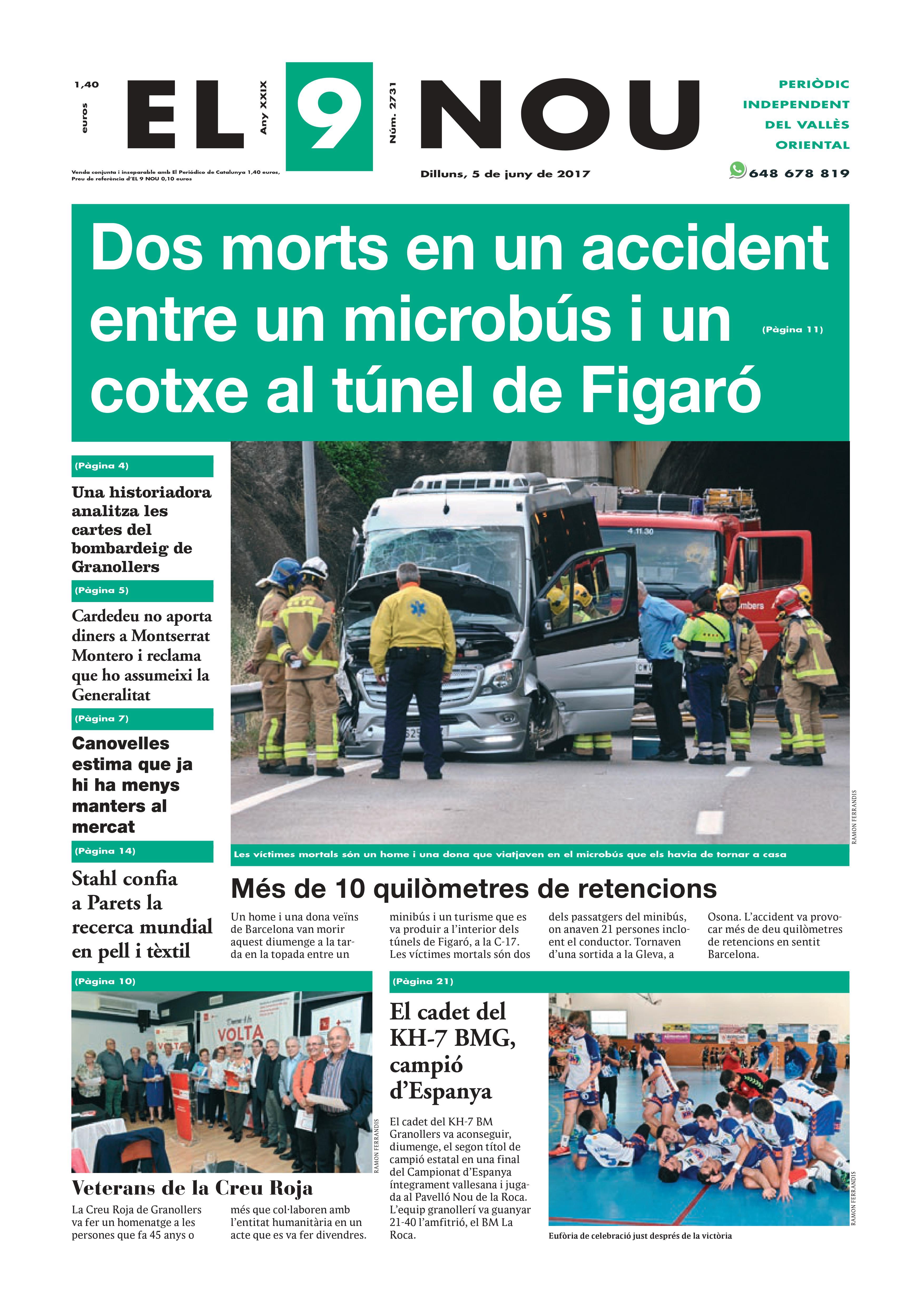 La portada del dilluns 5 de juny de 2017