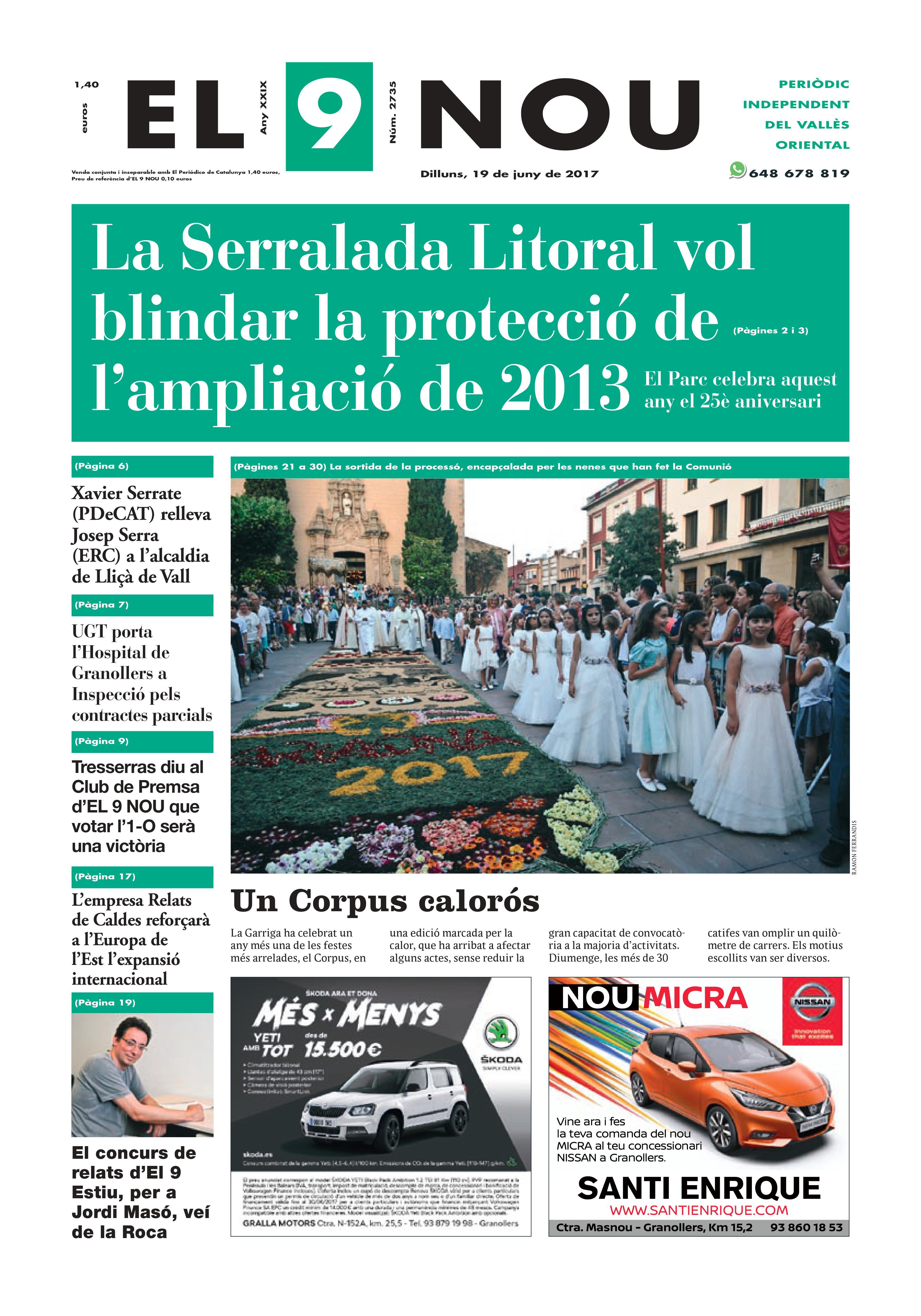 Portada Vallès Oriental 19/6/2017