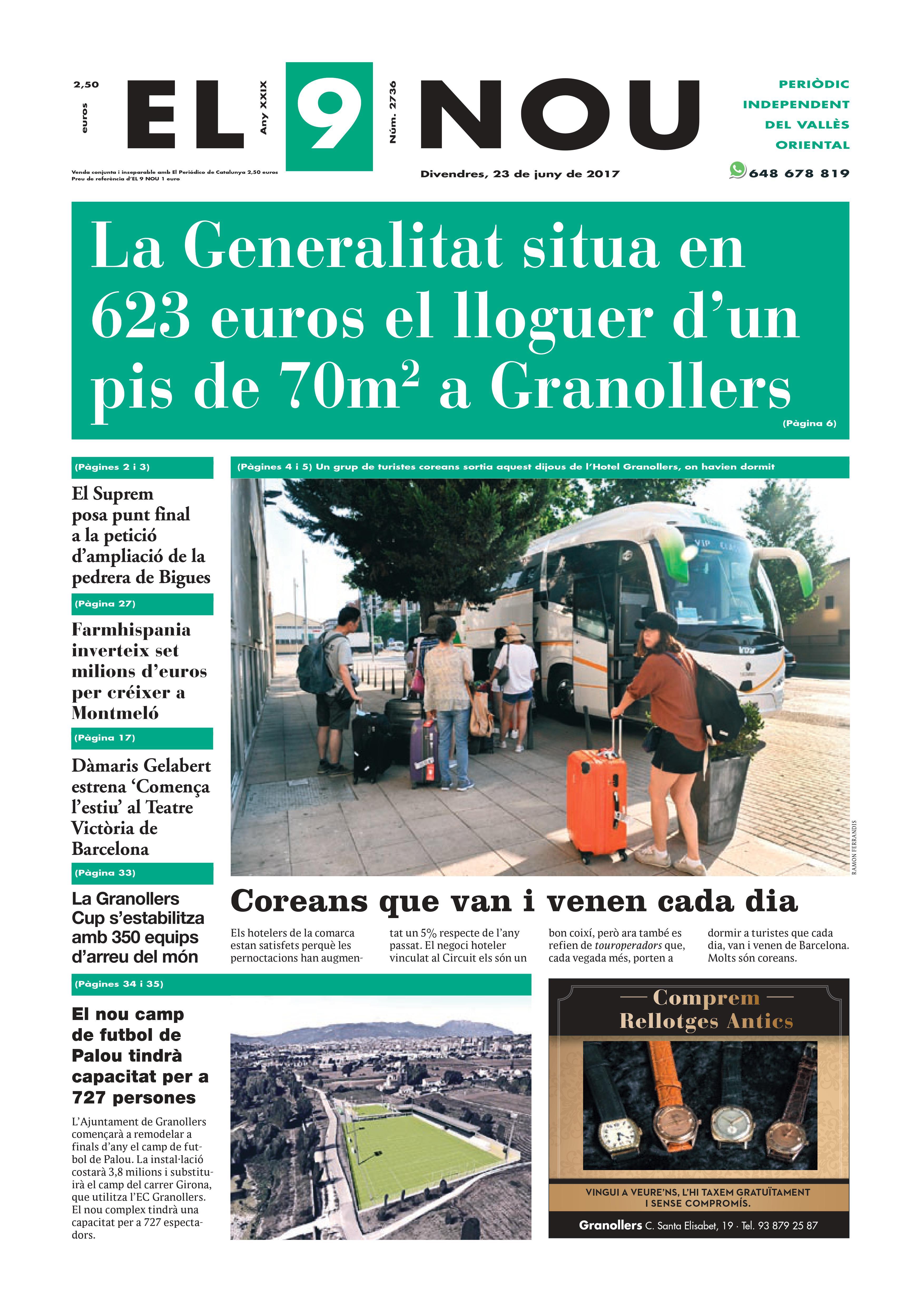 Portada Vallès Oriental 23/6/2017