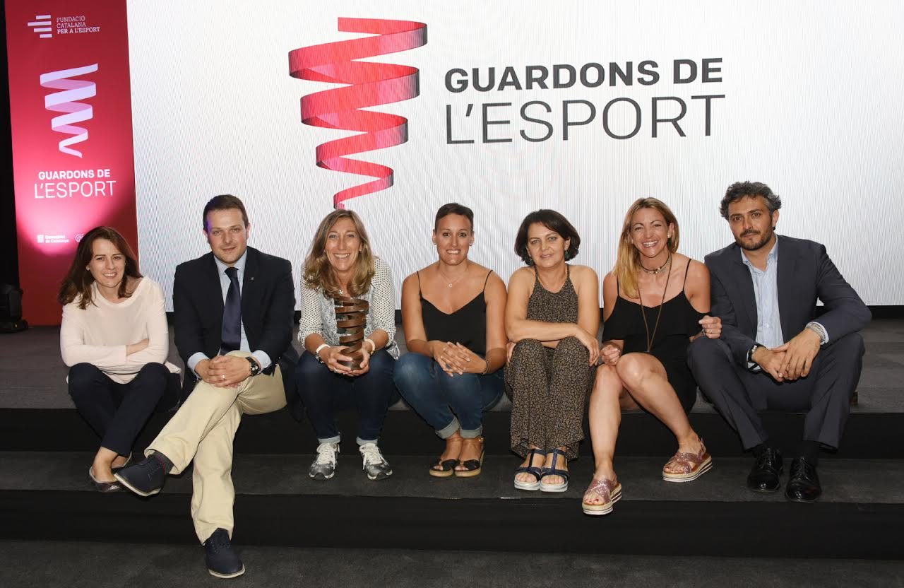 Els implicats en el projecte han recollit el premi concedit per la Fundació Privada Catalana per a l'Esport