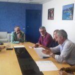 El secretari general de Treball, Josep Ginesta, va atendre els responsables de CCOO que han presentat la denúncia
