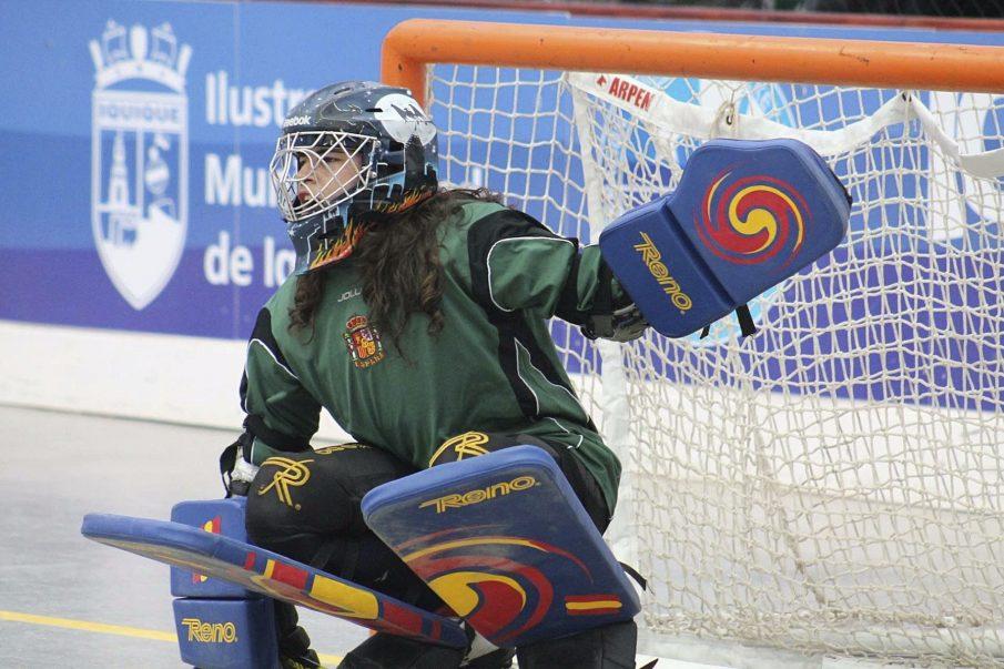 Bernadas durant el Mundial que va guanyar amb la selecció espanyola l'octubre passat a Iquique (Xile)
