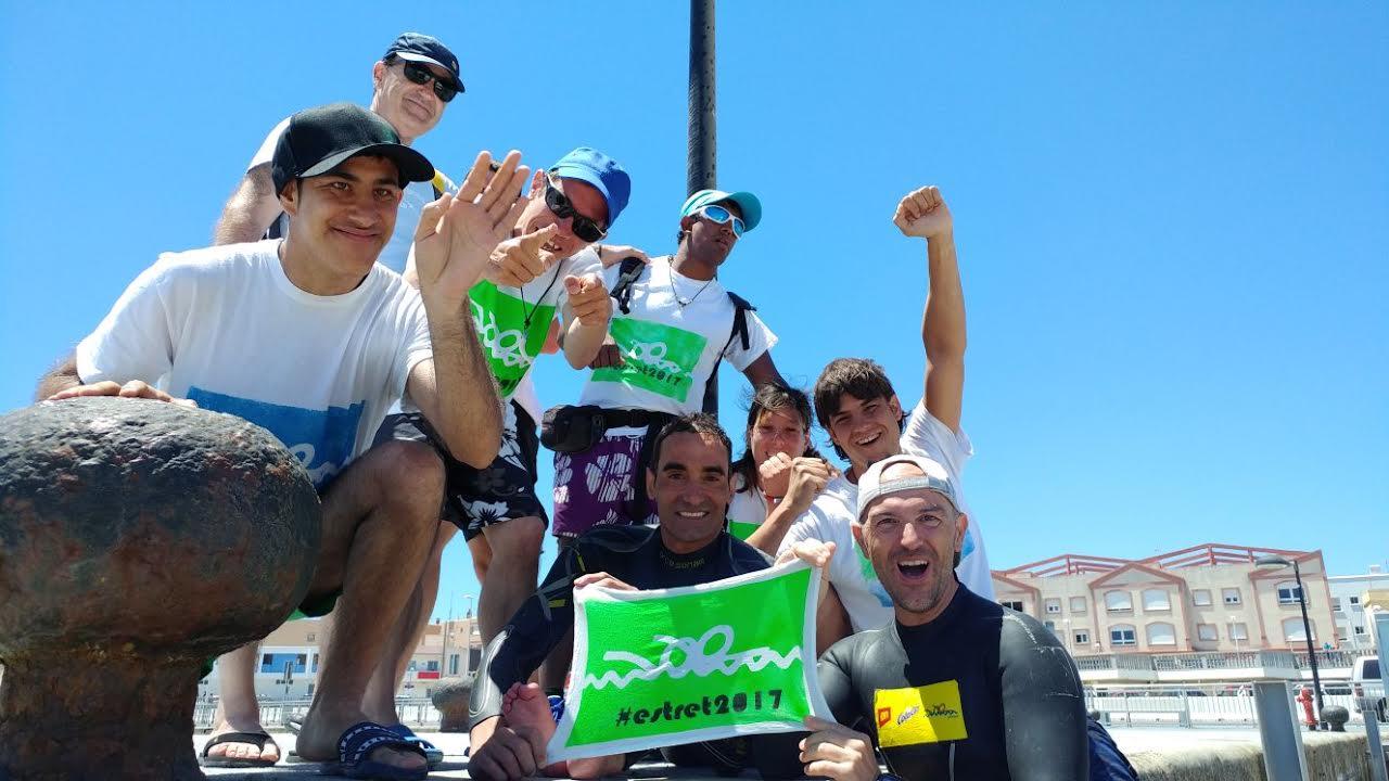 Sergi Mingote i Miguel Luque celebren la consecució del repte, aquest dimarts al migdia