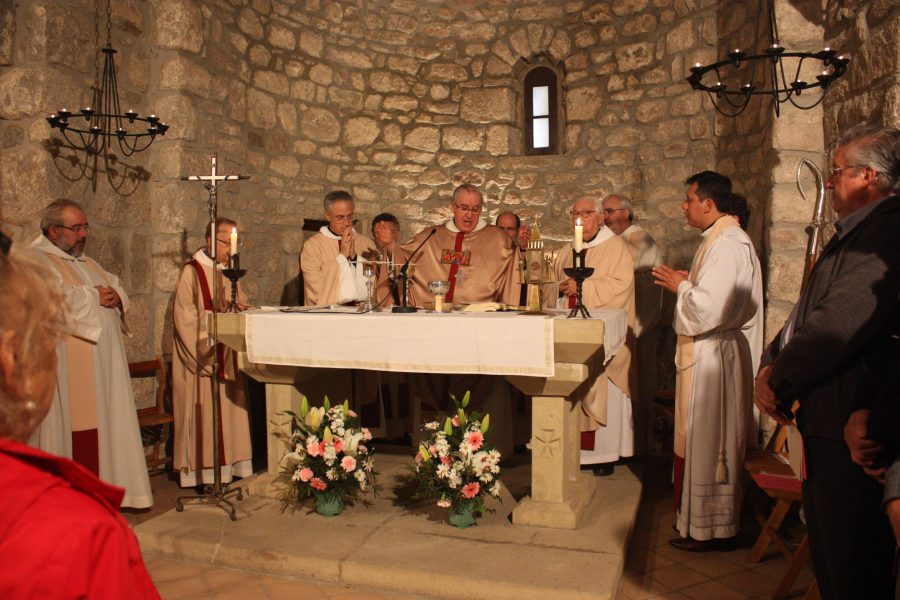 La missa d'aquest dilluns a l'ermita de Sant Marçal / Ferran Polo