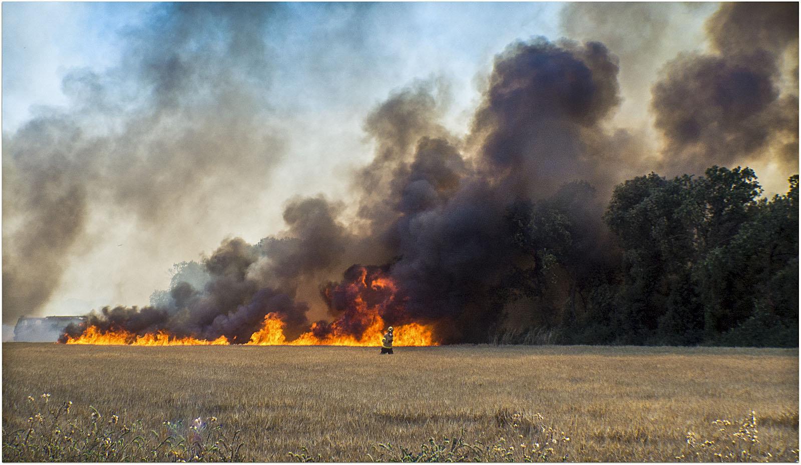 Un incendi va afectar Cardedeu el 15 de juny