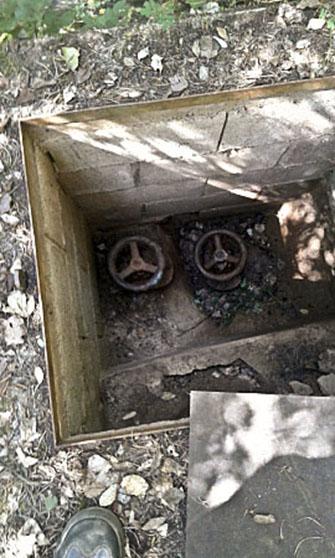 Les claus manipulades al dipòsit d'aigua de Figaró