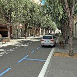 Aquesta és la opció 1 amb l'aparcament només a una banda