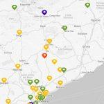 Mapa de la qualitat de l'aire a Catalunya