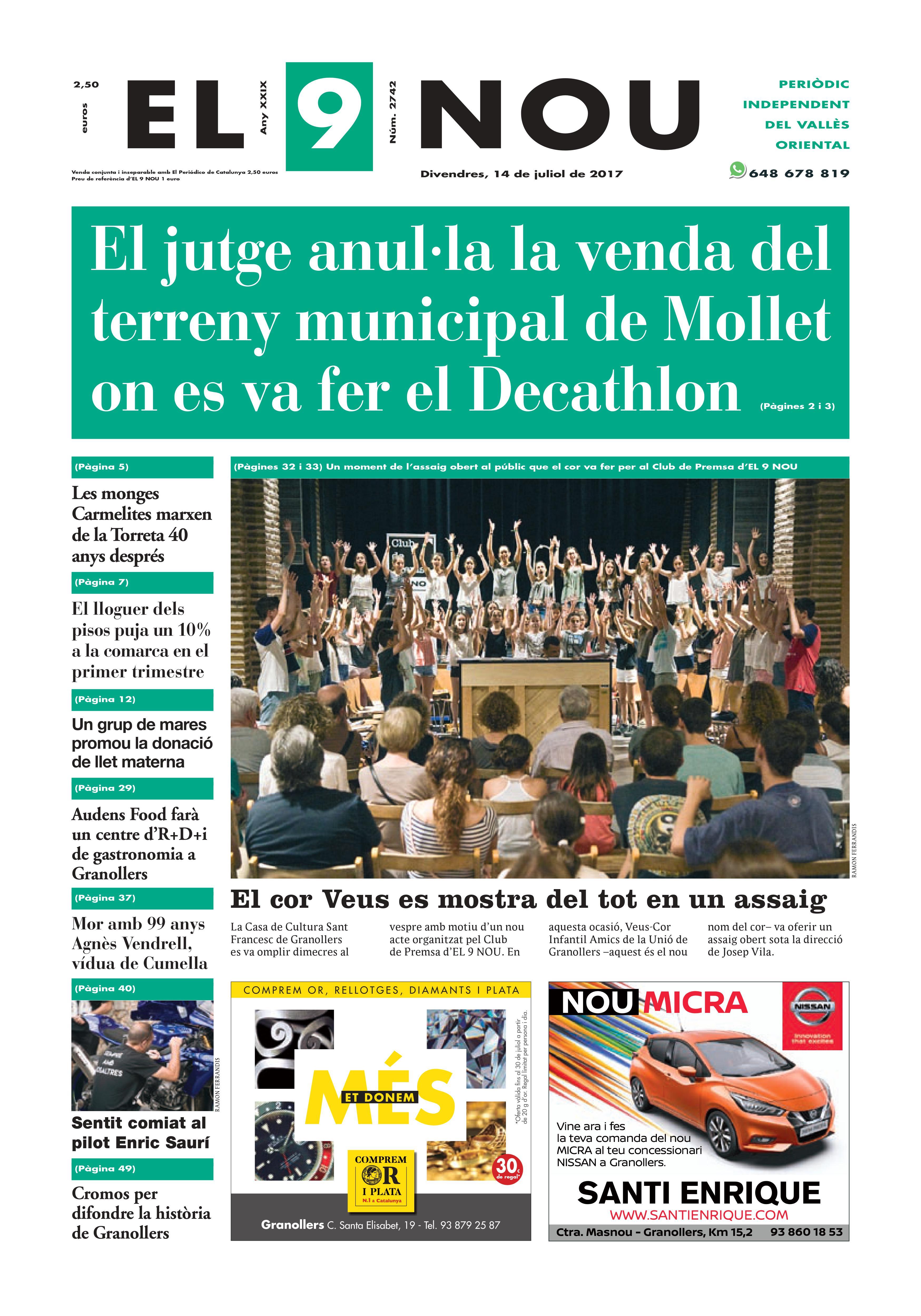 Portada Vallès Oriental 14/7/2017