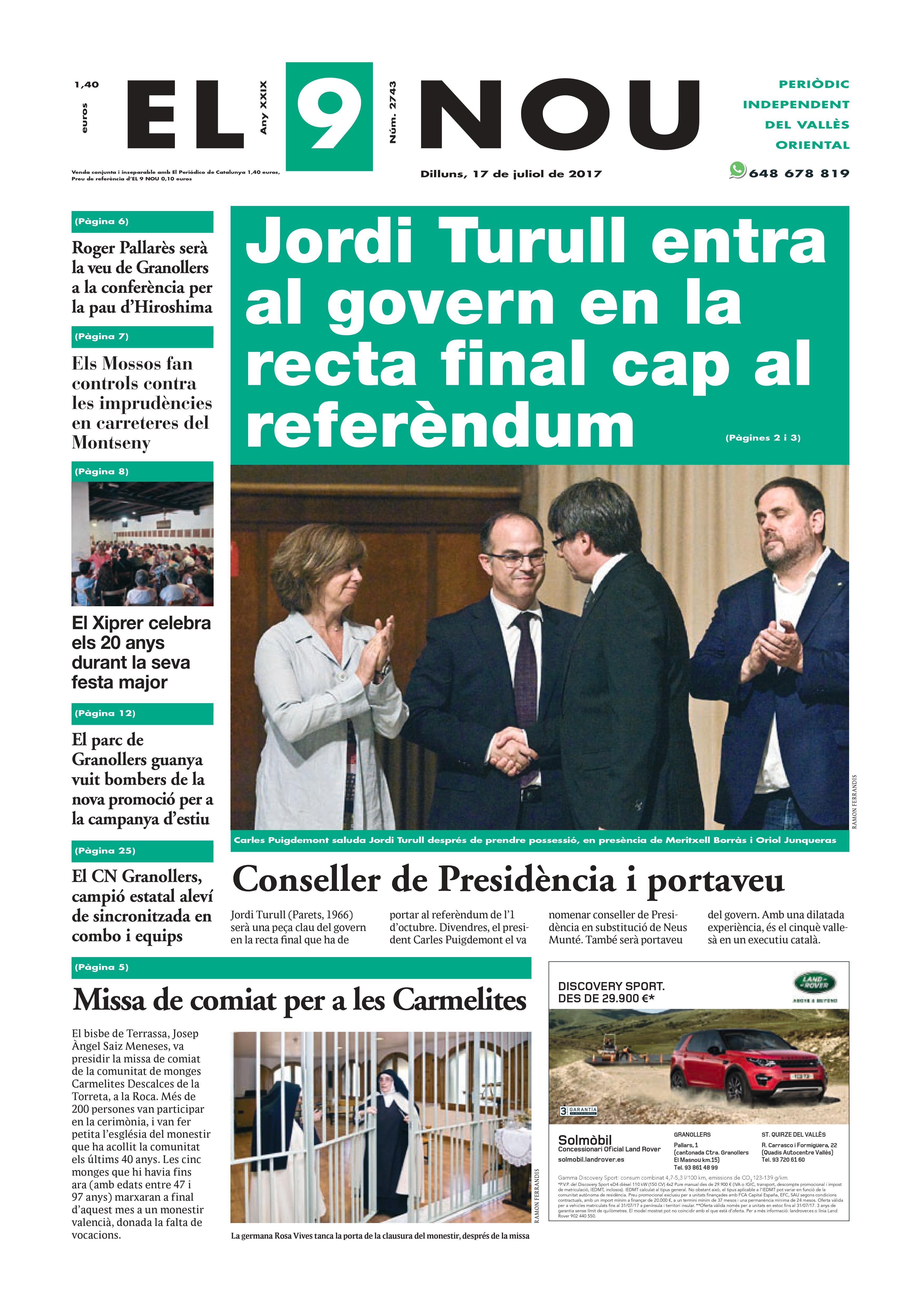 Portada Vallès Oriental 17/7/2017