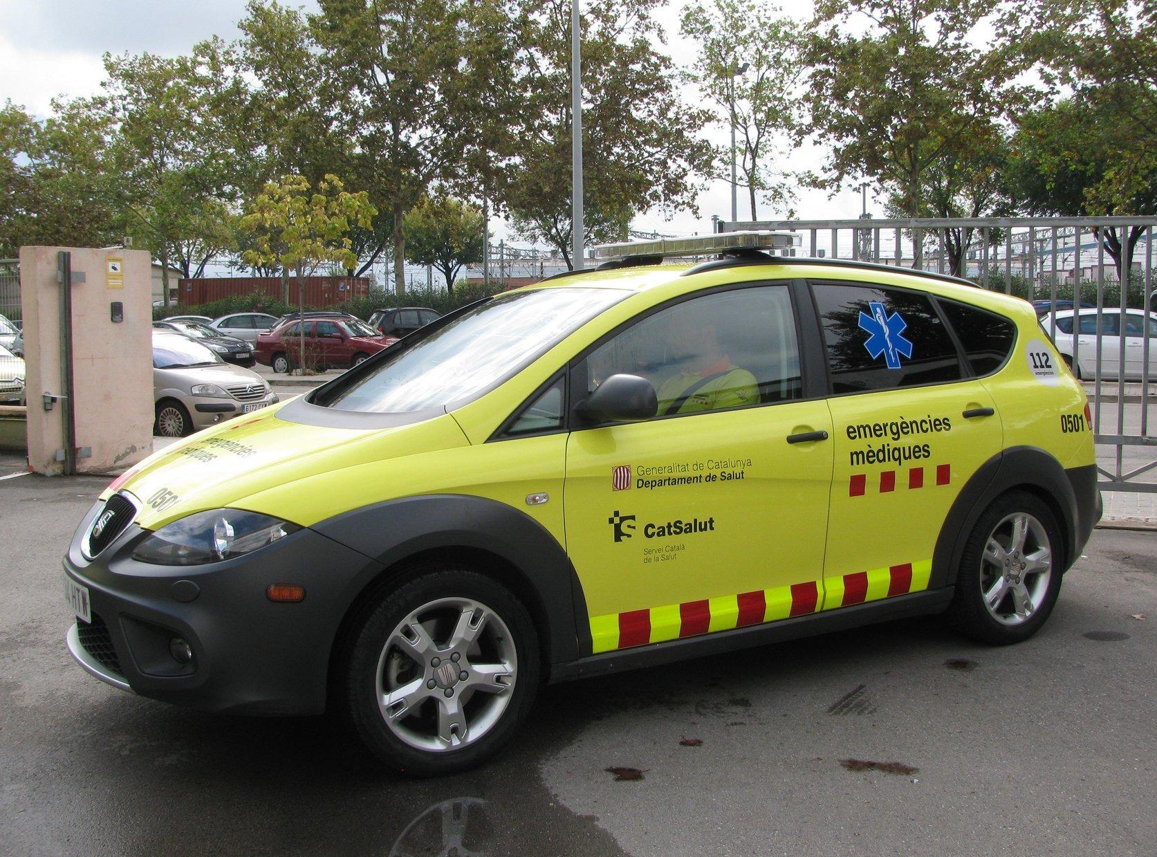 Un vehicle del Servei d'Emergències Mèdiques