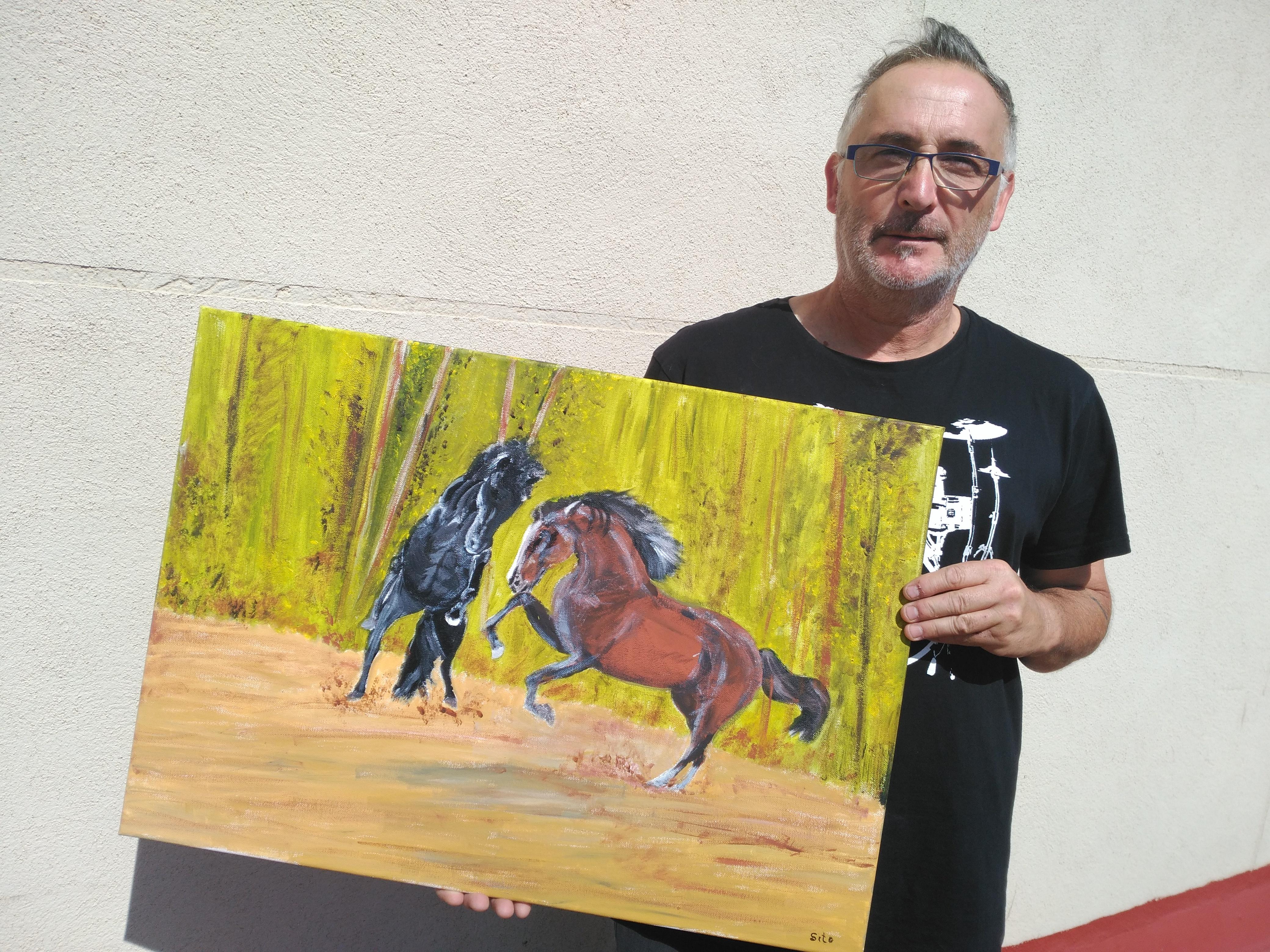 L'artista Luis Navarro Castillo