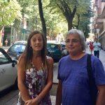 Fabiana Palmero i Josep-Ramon Soldevila, aquest migdia al carrer Verdaguer