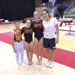 Daniel Mendieta, Clàudia Salat, Paula Norberto i Cristina Saus (entrenadora)