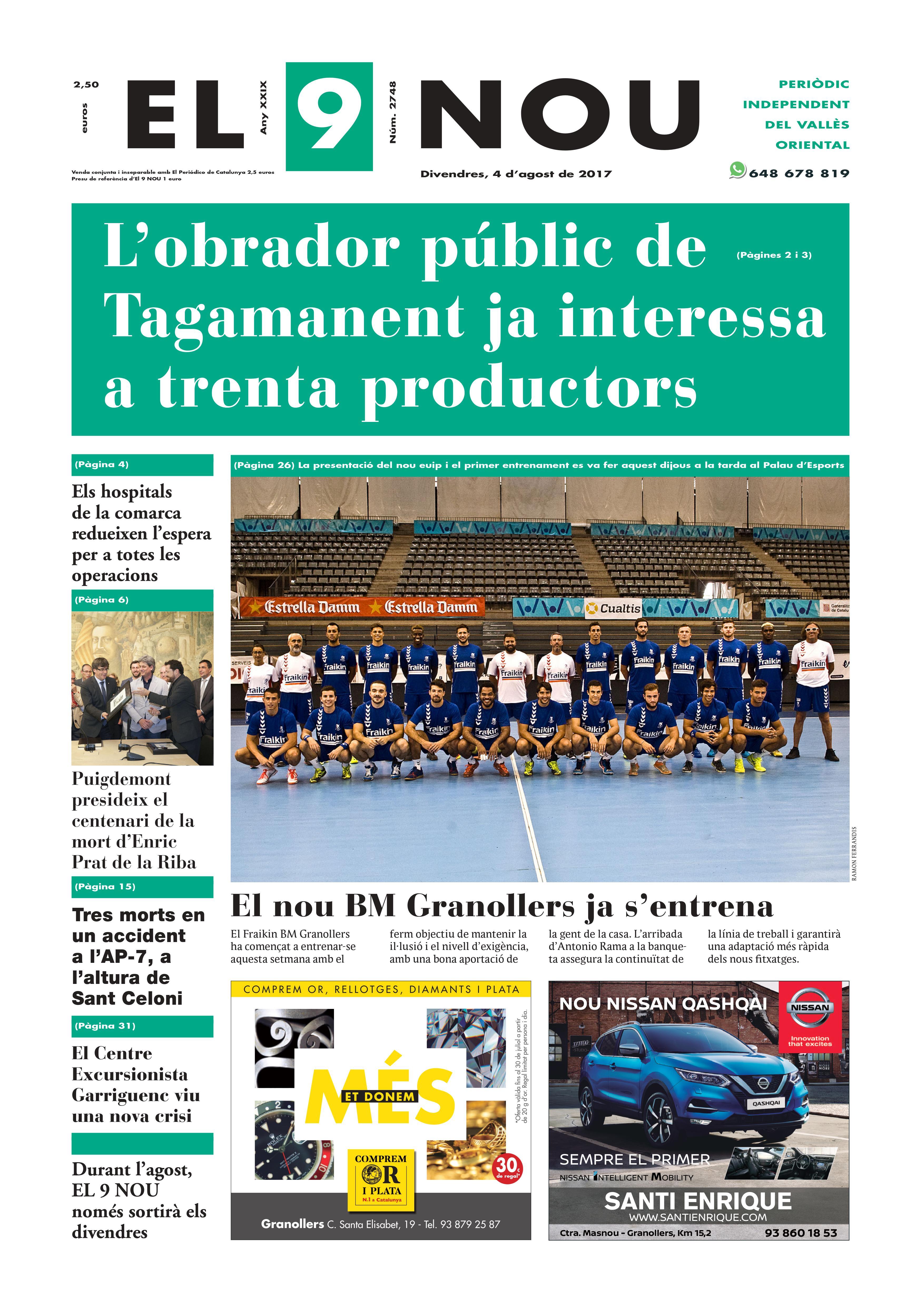 La portada del 4 d'agost de 2017