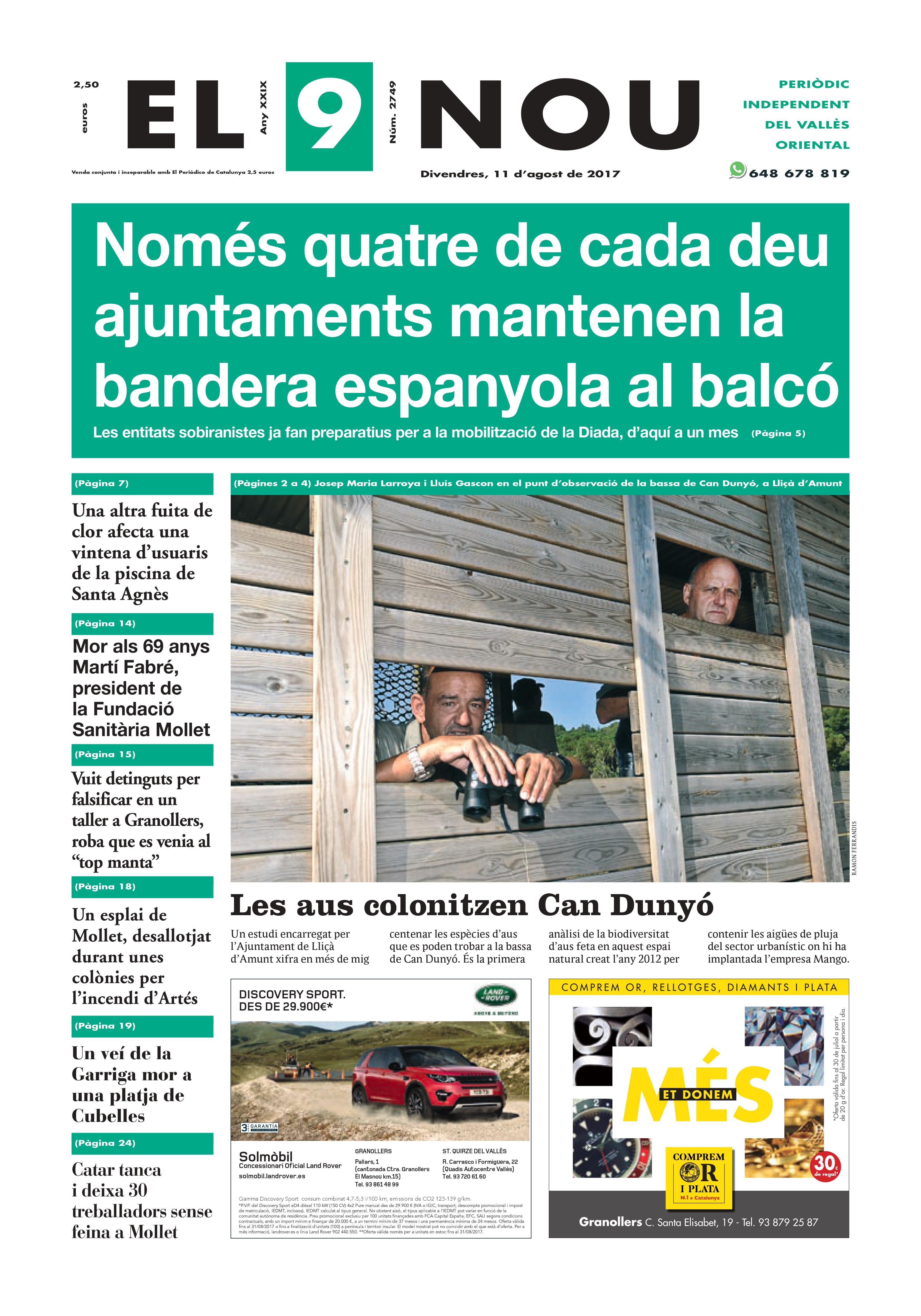 Portada Vallès Oriental 11/8/2017