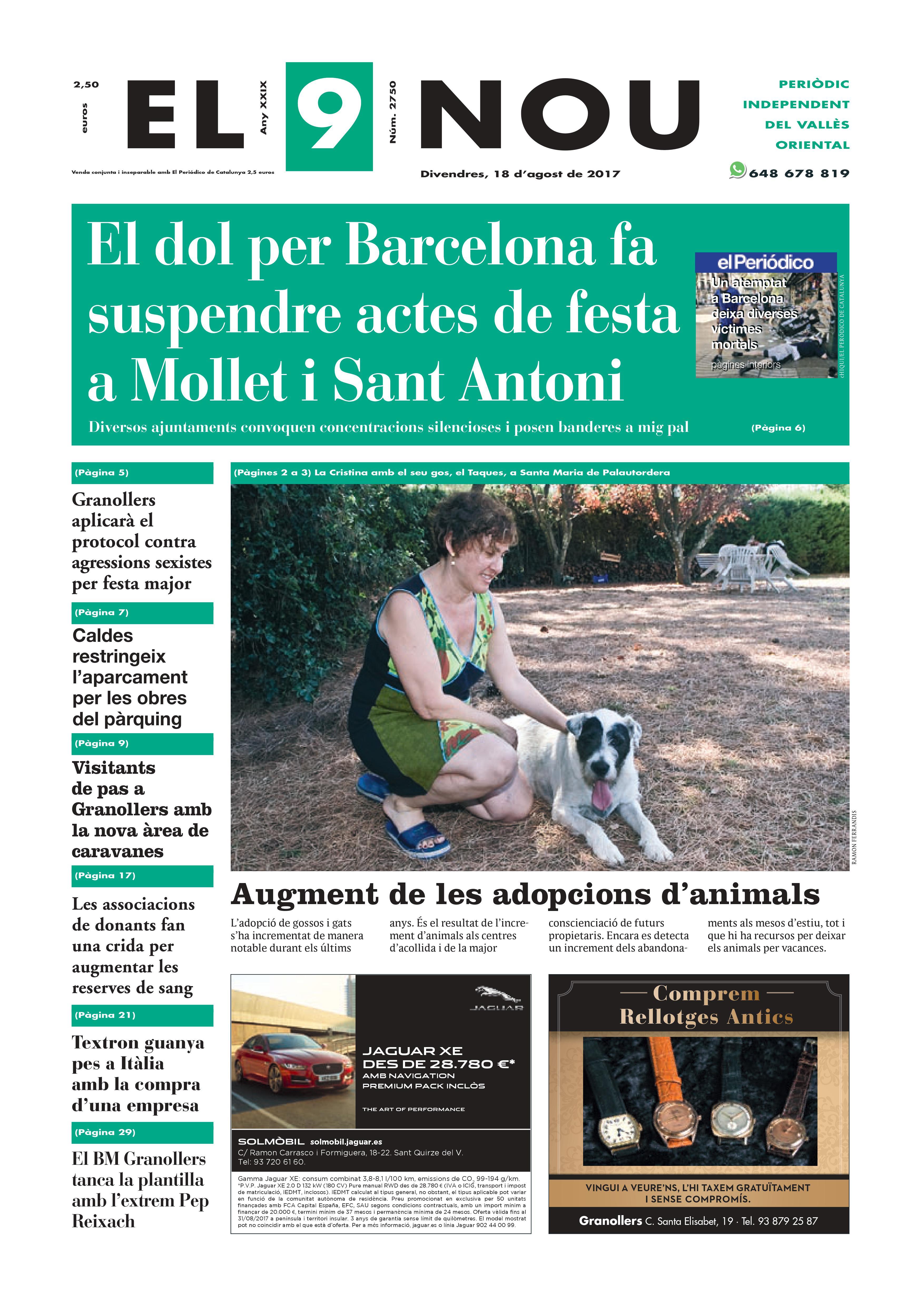 Portada Vallès Oriental 18/8/2017
