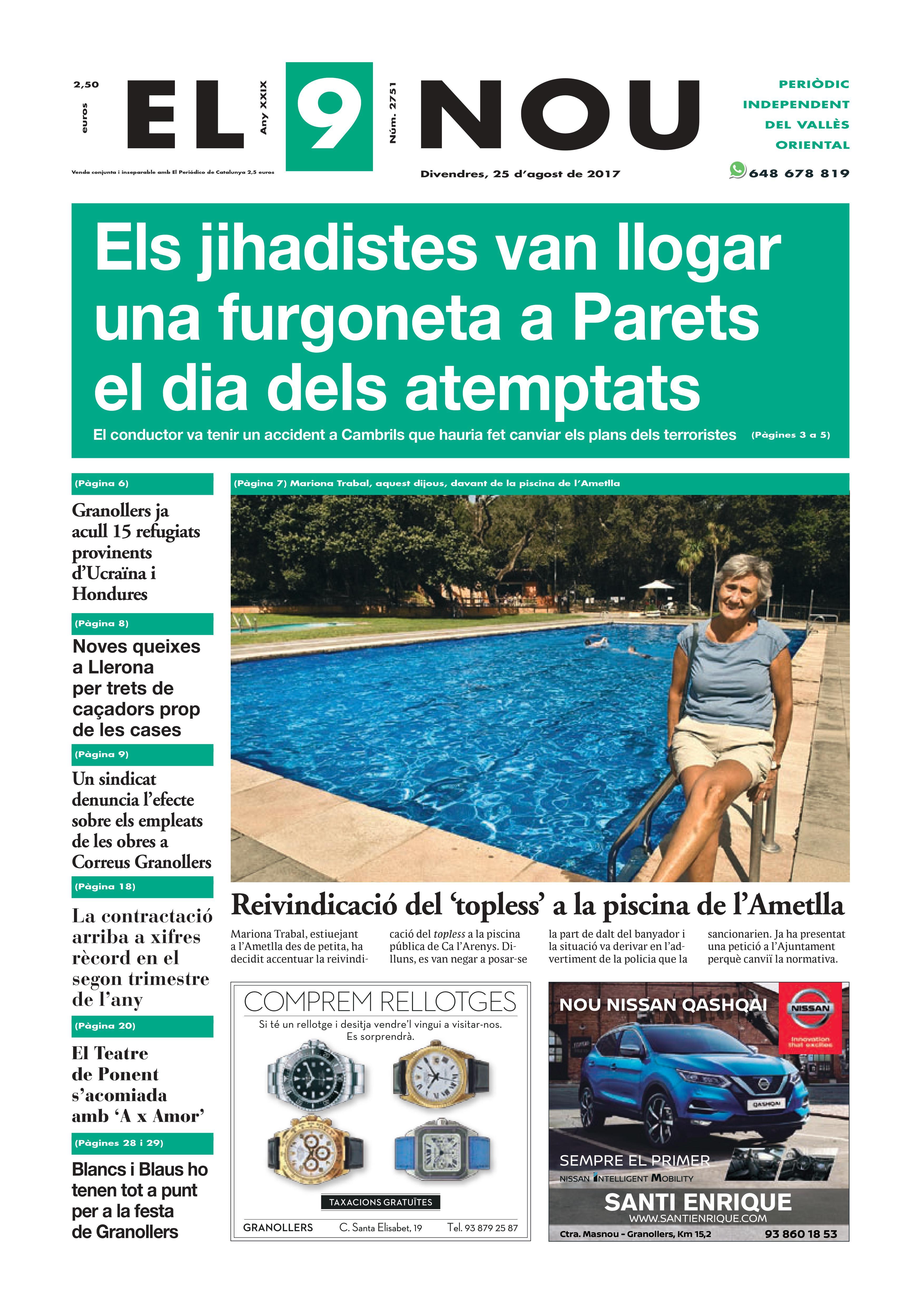 Portada Vallès Oriental 25/8/2017