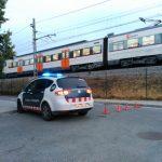 El tren afectat a la zona de l'atropellament aquest dimarts al matí