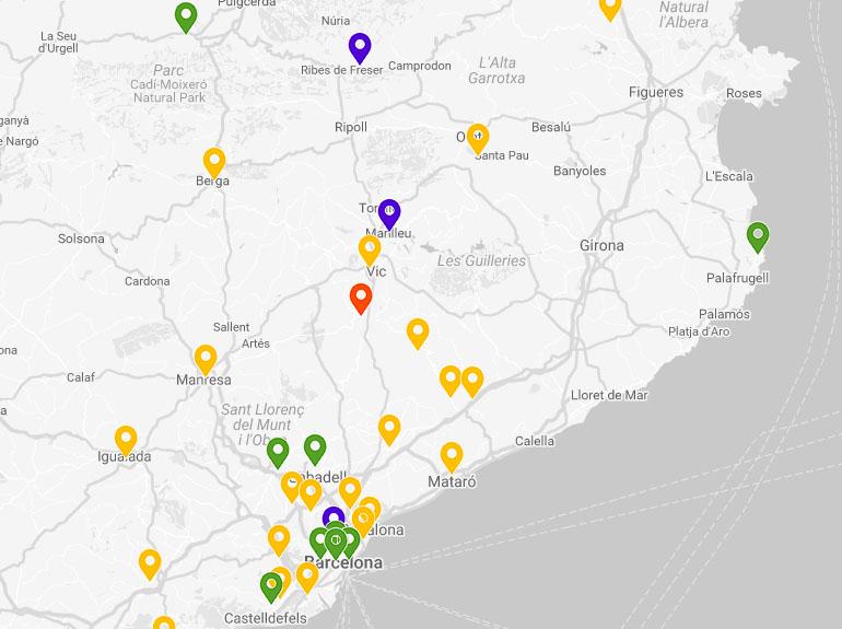 Mapa del control de qualitat de l'aire