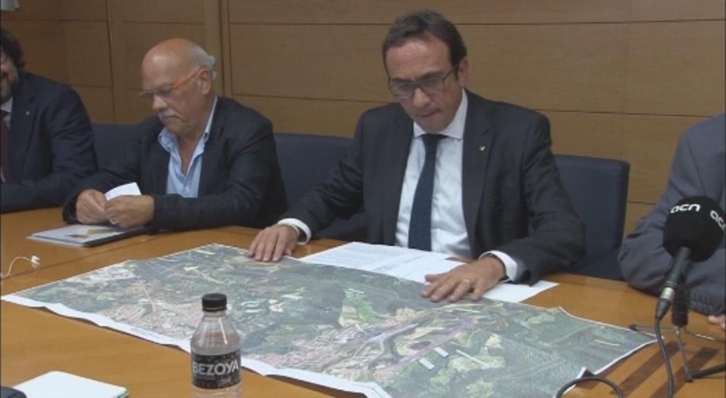 Josep Rull aquest dimarts a Olot