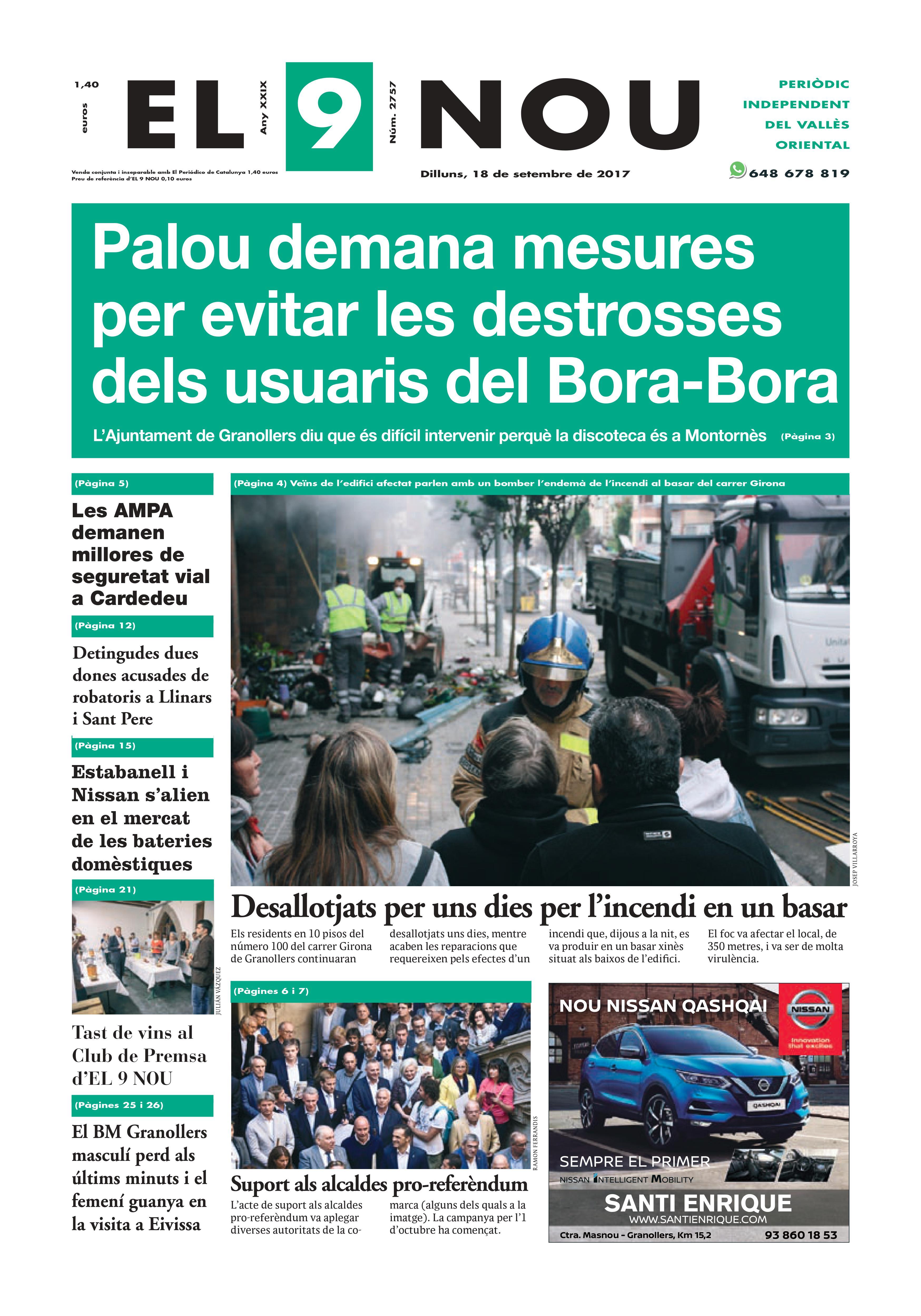 Portada Vallès Oriental 18/9/2017