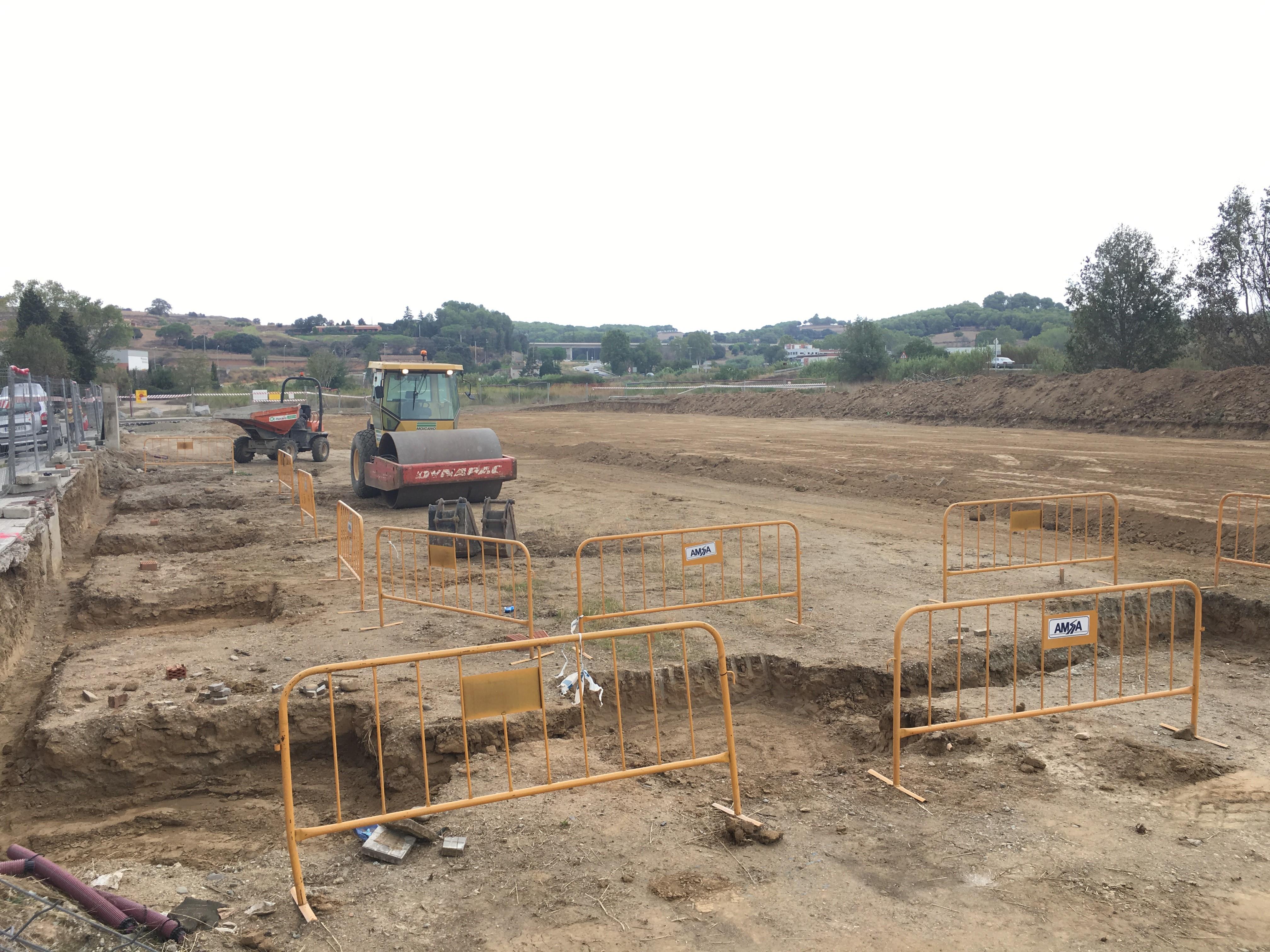 Les obres de la nova rotonda van començar a finals d'agost