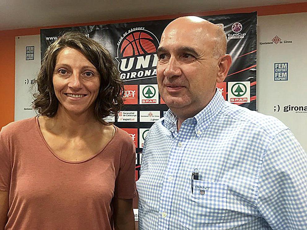 Noemí Jordana amb el nou president, Cayetano Pérez
