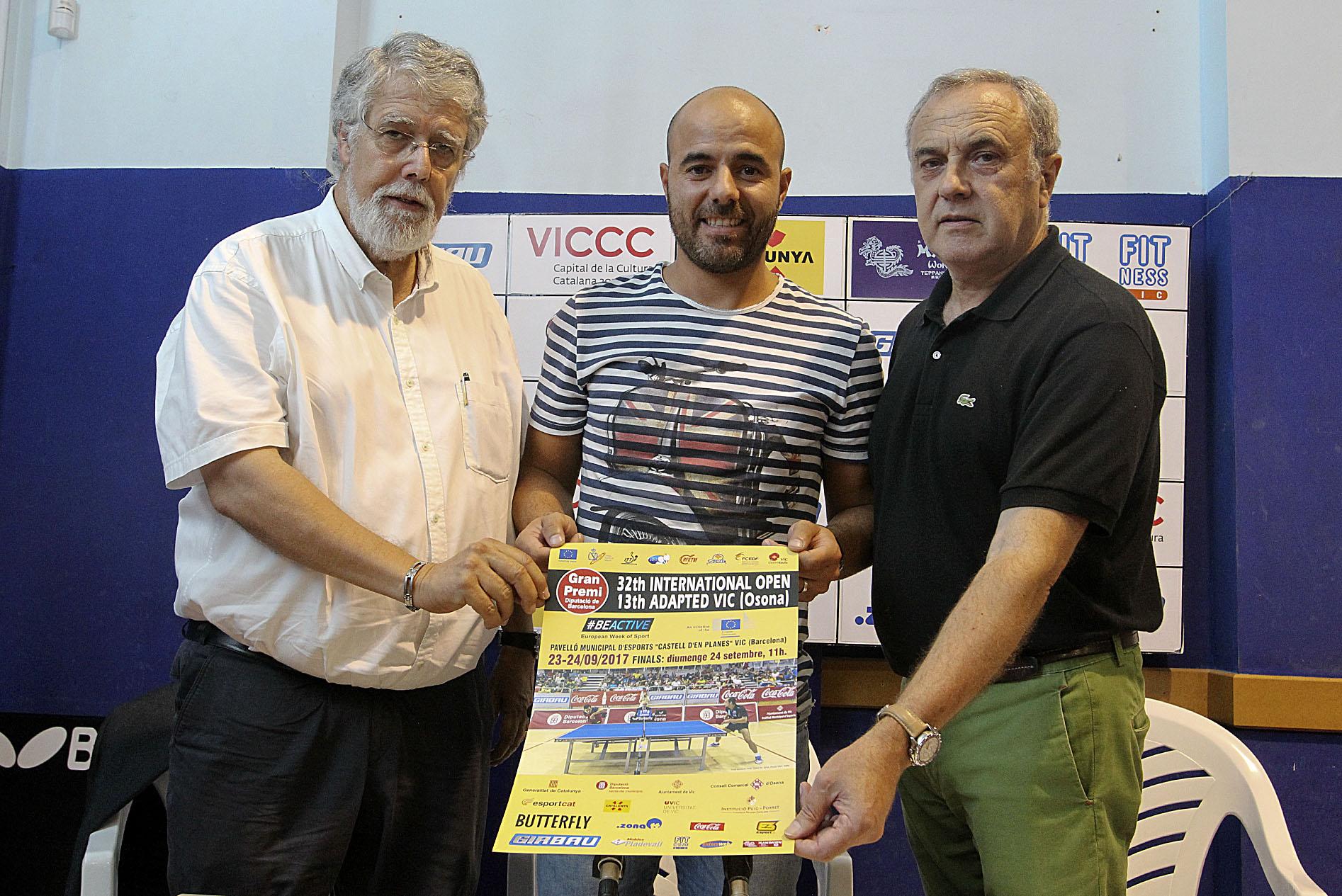 Joan Arnau, Titi Roca i Enric Roca, a la presentació
