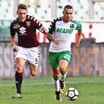 Lirola en un partit d'aquesta passada temporada amb la samarreta del Sassuolo