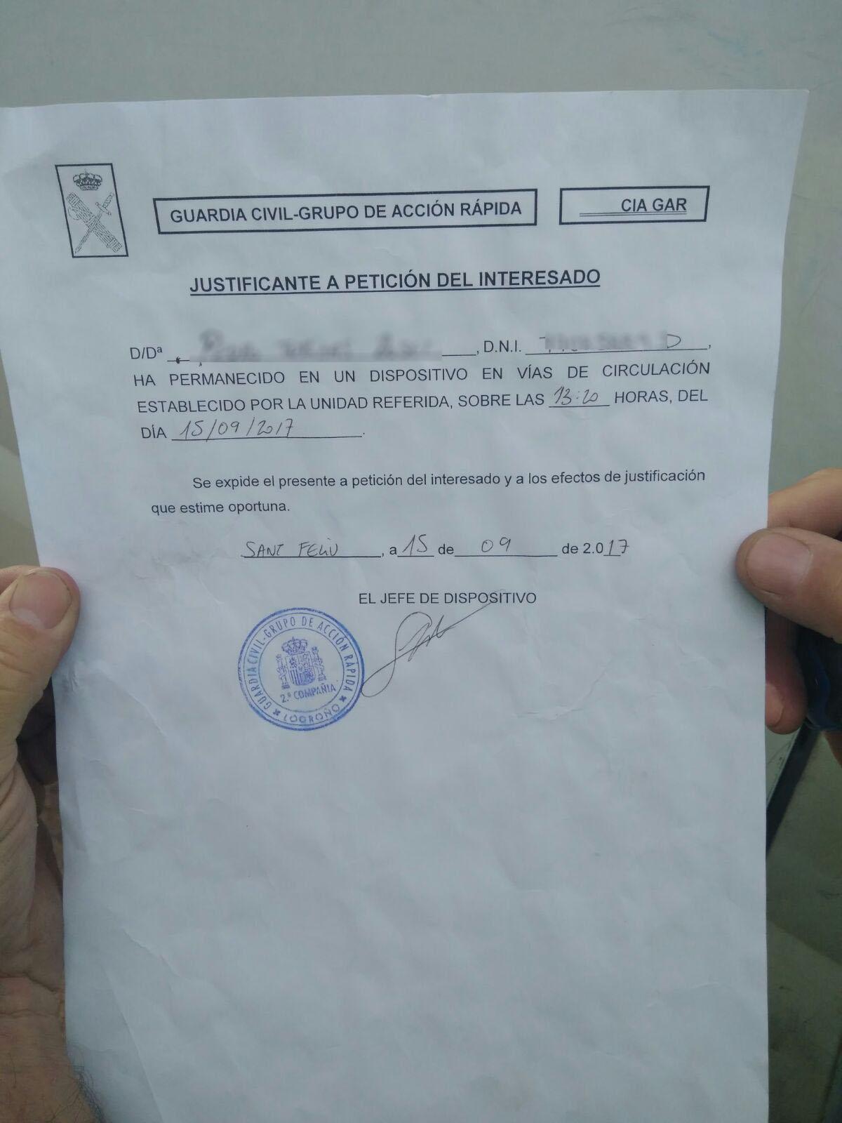 Document rebut per l'Ajuntament de Manlleu