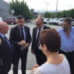 Santi Vila amb alcaldes i regidors de la Vall del Ges i el Bisaura