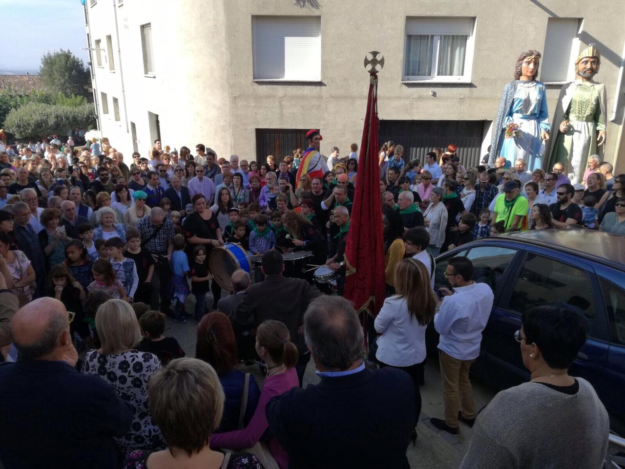 La concentració a Sant Pere de Torelló