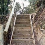 Els senders d'accés del Castell de Montclús s'han arreglat pel gran desnivell