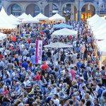 Vista de la plaça Fra Bernadí durant la festa de l'any passat