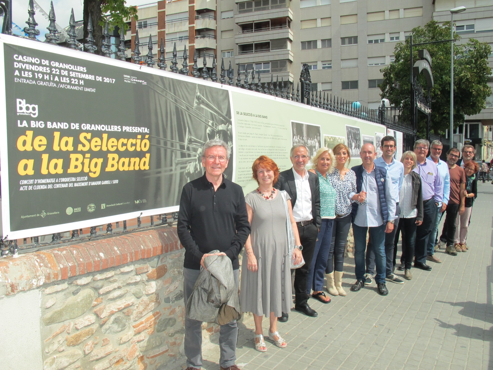 La presentació del concert s'ha fet al Casino amb representants de tots els implicats