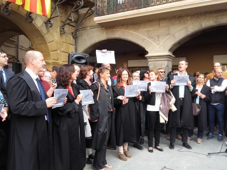 Advocats de Vic durant una de les manifestacions prèvies a l'1O